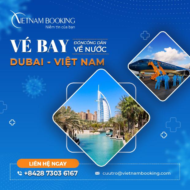 chuyến bay từ Dubai về Việt Nam