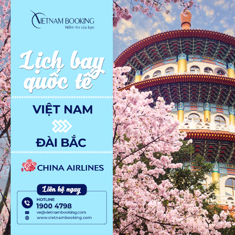 chuyến bay từ Việt Nam đi Đài Bắc