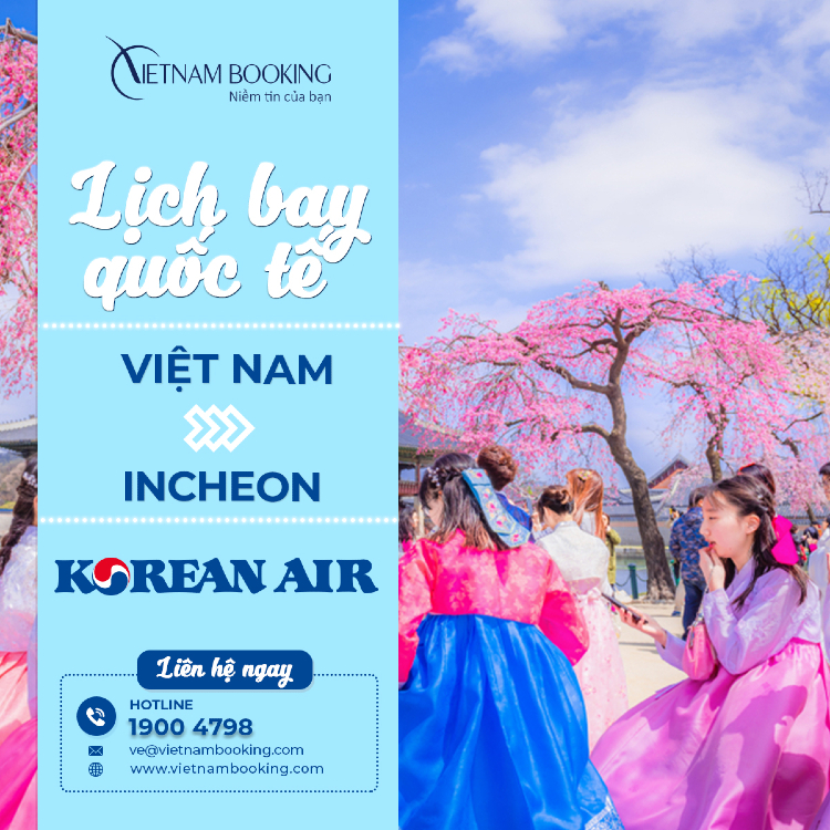 Chuyến bay từ Việt Nam đi Seoul