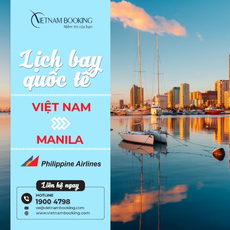 vé máy bay từ Việt Nam đi Manila