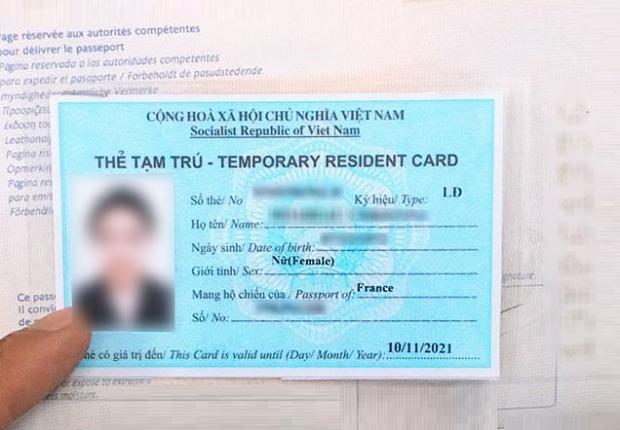 Xin cấp lại thẻ tạm trú cho người nước ngoài