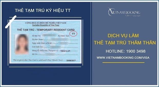 Thủ tục cấp thẻ tạm trú cho thân nhân người nước ngoài