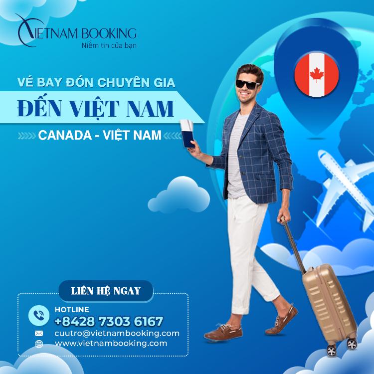 vé máy bay chuyên gia từ Vancouver về Đà Nẵng