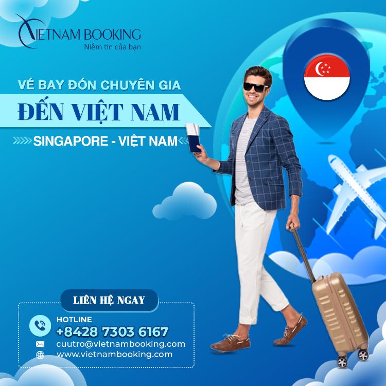 vé máy bay chuyên gia từ Singapore về Việt Nam