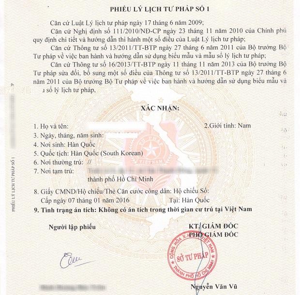đơn xin xác nhận tạm trú cho người nước ngoài