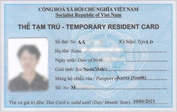 thời hạn cấp thẻ tạm trú cho người nước ngoài
