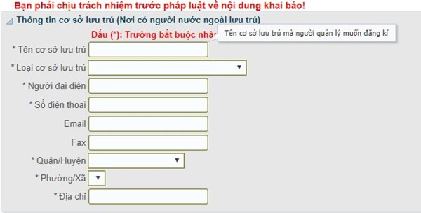 đăng ký tạm trú online cho người nước ngoài