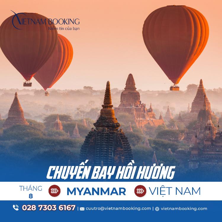 vé máy bay từ Myanmar về Việt Nam