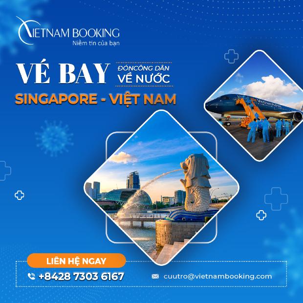 chuyến bay từ Singapore về Việt Nam