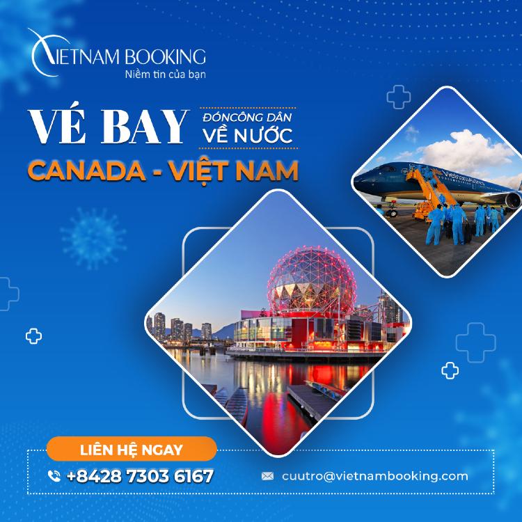 vé máy bay từ Vancouver về Đà Nẵng