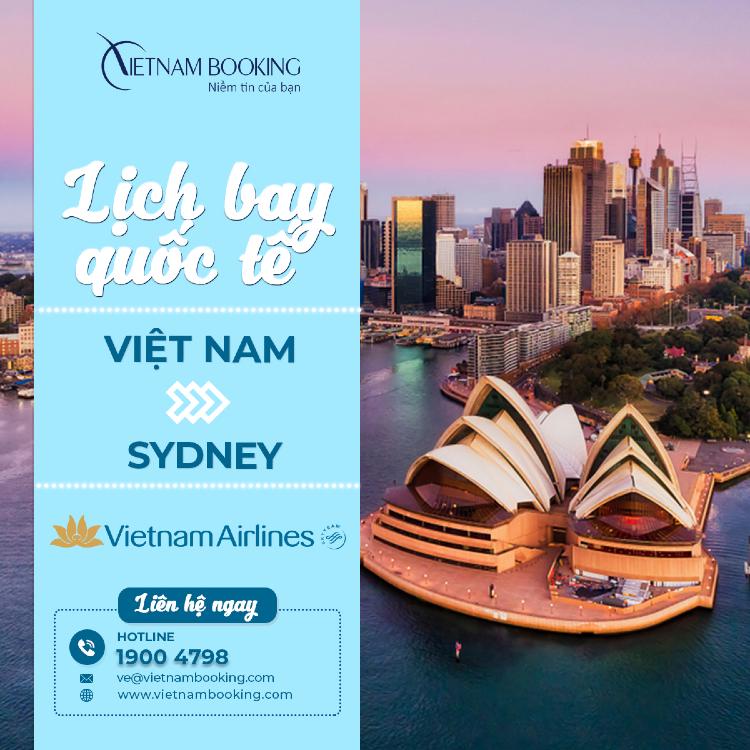 chuyến bay từ Tp Hồ Chí Minh đi Sydney