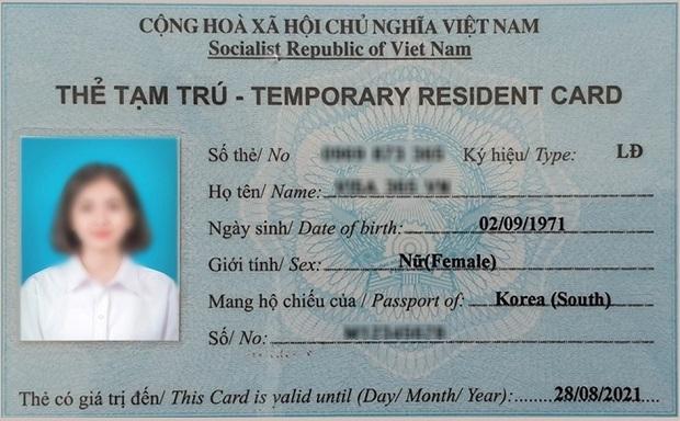 đơn xác nhận tạm trú cho người nước ngoài