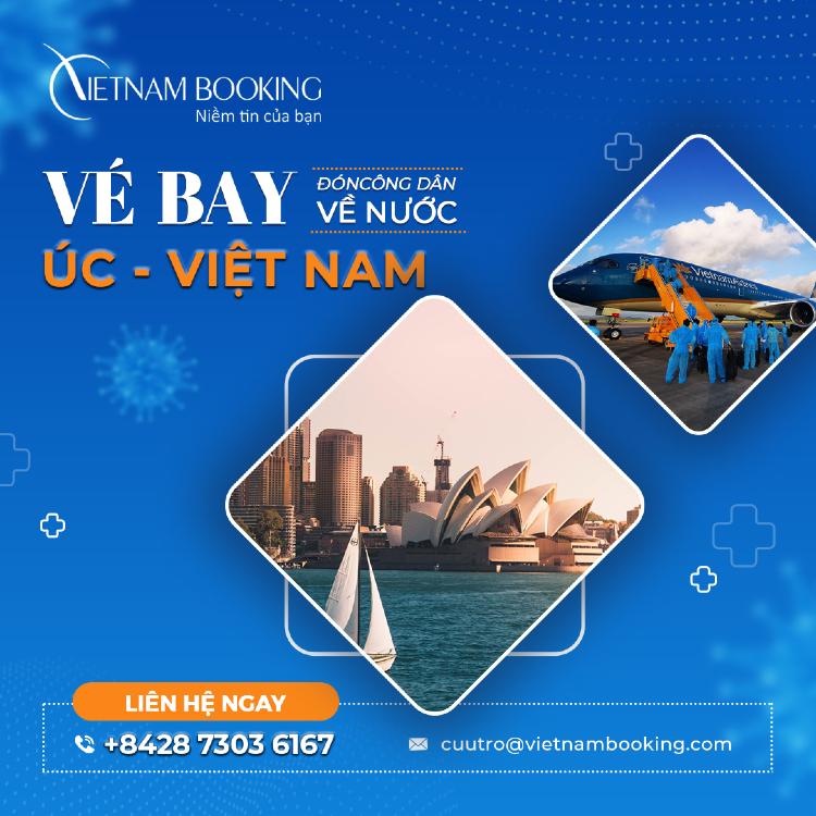 vé máy bay từ Sydney về Sài Gòn