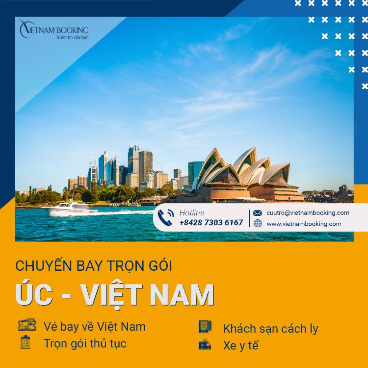 Chuyến bay charter từ Sydney về Sài Gòn