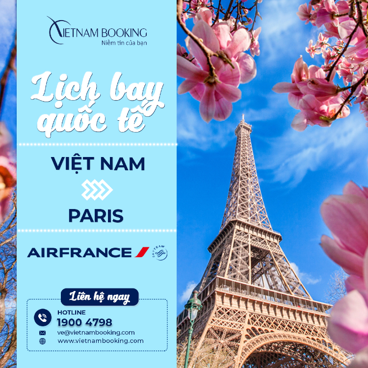 chuyến bay từ Việt Nam đi Paris