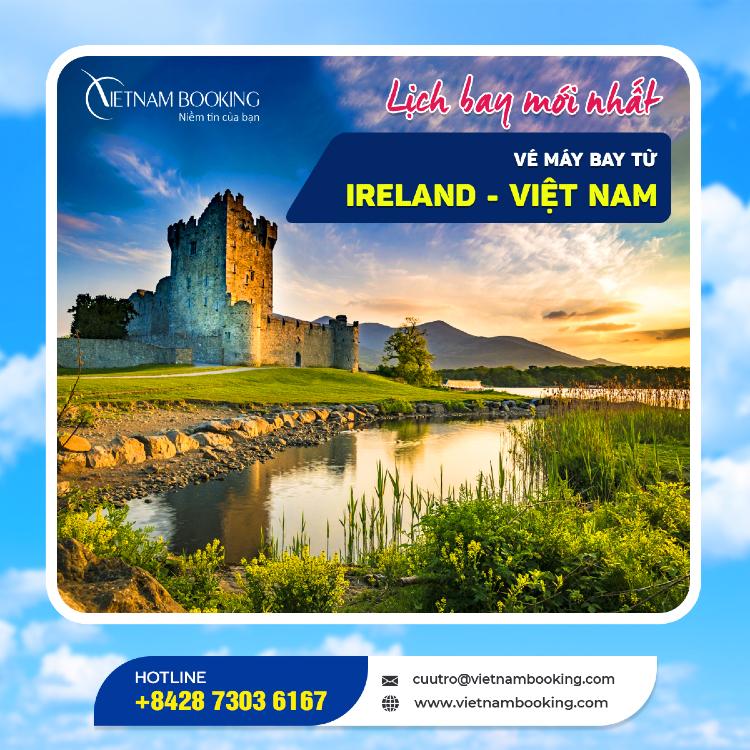 Chuyến bay từ Ireland về Việt Nam