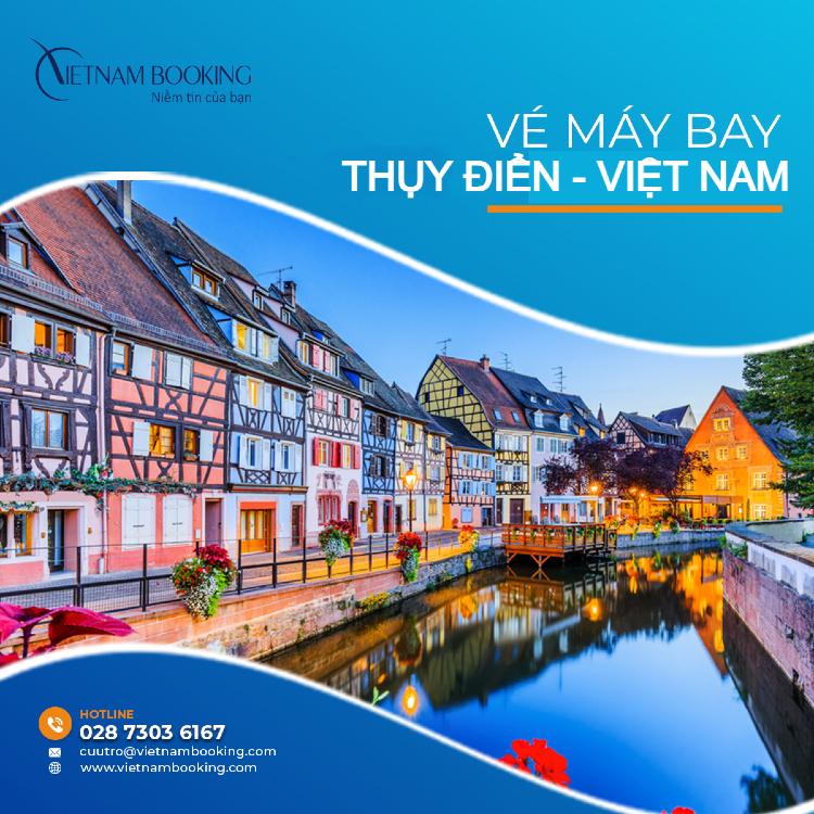 vé máy bay từ Thụy Điển về Việt Nam