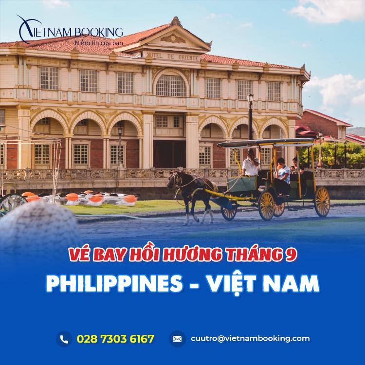 chuyến bay từ Philippines về Việt Nam