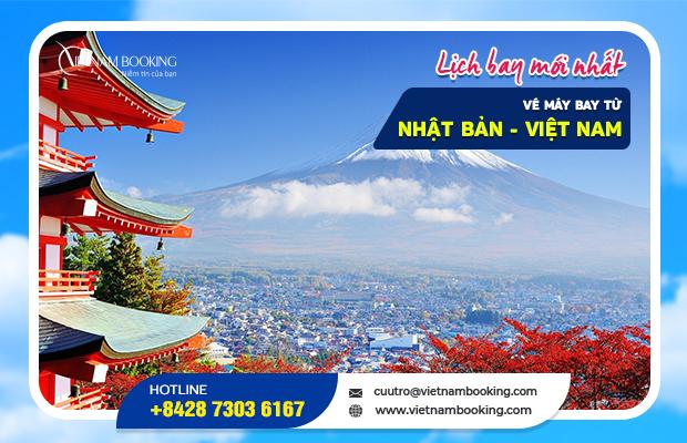 Vé máy bay từ Nhật Bản về Việt Nam, cập nhật chuyến bay mới nhất
