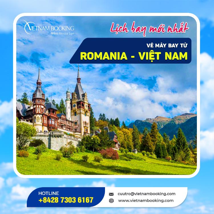 Chuyến bay từ Romania về Việt Nam