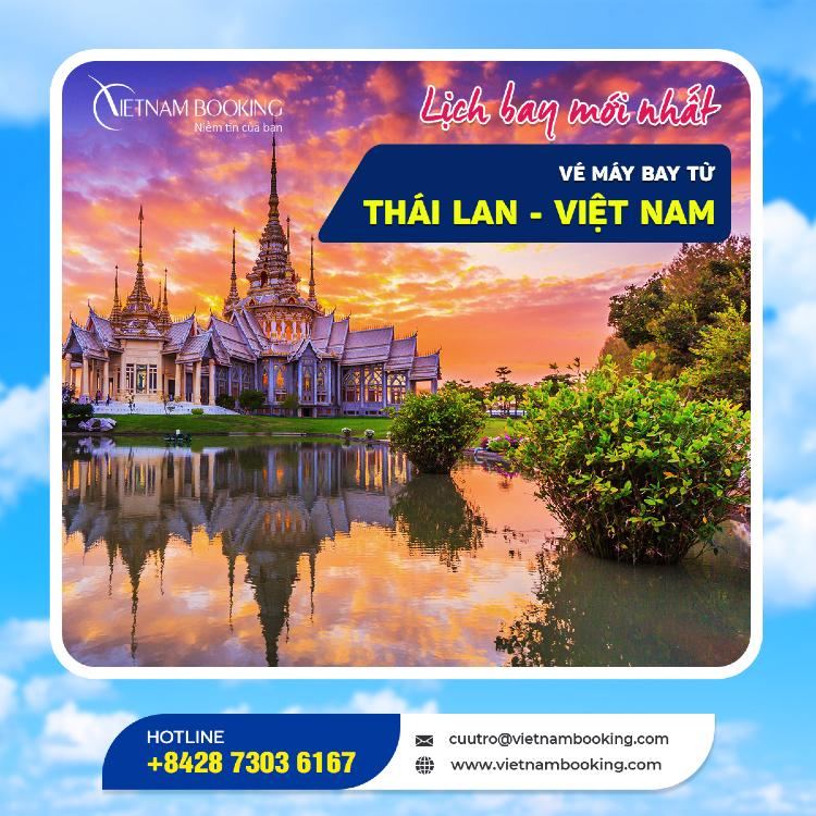 Chuyến bay từ Thái Lan về Việt Nam